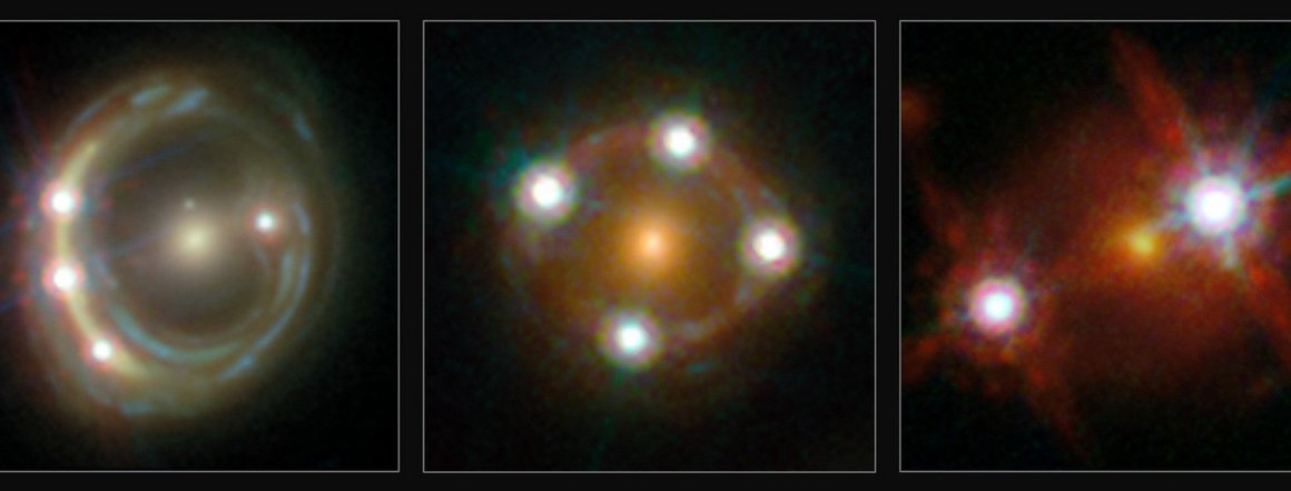 three lensed quasars and the foreground galaxies studied by the H0LiCOW collaboration